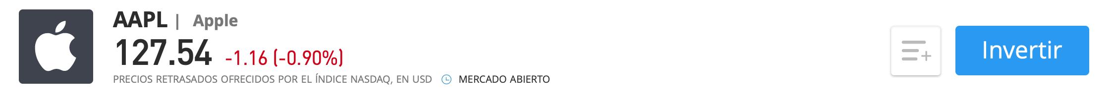 Acciones Apple eToro