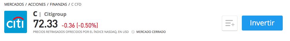 Acciones Citigroup eToro